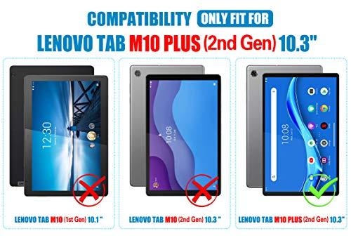 ELTD Displayschutzfür Lenovo Tab M10 FHD Plus 10.3, Rounded Corners 2.5D, 9H Härte, gehärtetes Displayfolie Schutzglas für Lenovo Tab M10 FHD Plus (2nd Gen) 10.3 TB-X606F (2 Stück)