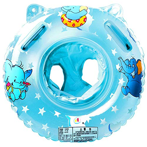 StillCool Baby Swimming Float Inflatable Swimming Ring with Float Seat for 6 Months6 Years ChildrenNew Blue