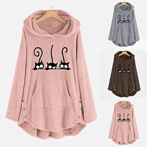 Whycat Bee Happy Long Blanket Hoodie Dress Women, Fuzzy Oversize Pullover Teddy Bear Hooded Fleece Jumper Plus Size Cute Hoodies Girls School Home Casual Fluffy Tops…