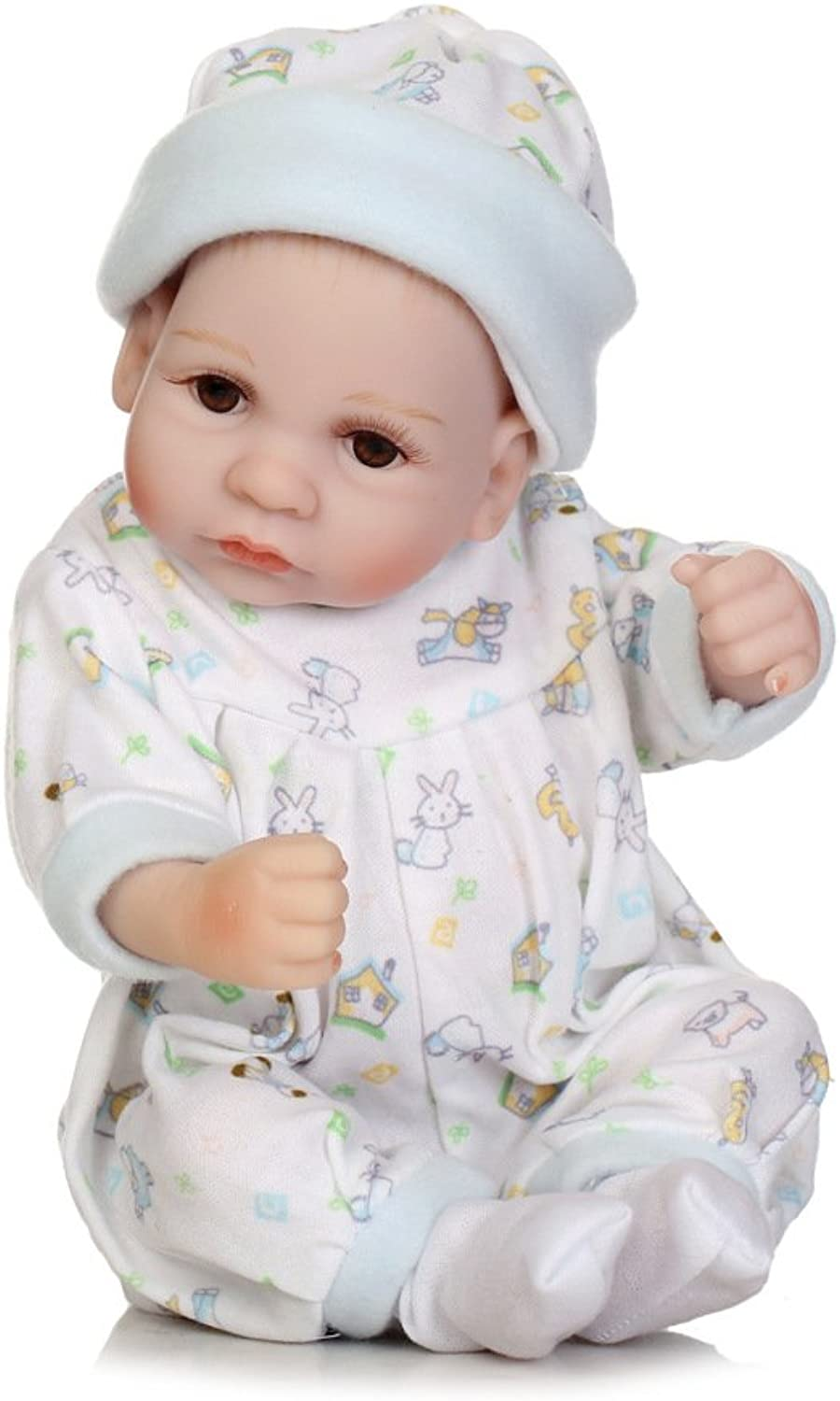 ZBYY Simulation Silicone Baby Real Vinyl 10 Inch 27CM Toy Sleeping Alive Kids Toy Boy And Girl Xmas Gift