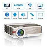 Bluetooth Movie Projector Wxga 2020 LED Android Indoor Outdoor 5000 Lumens Digital Wireless