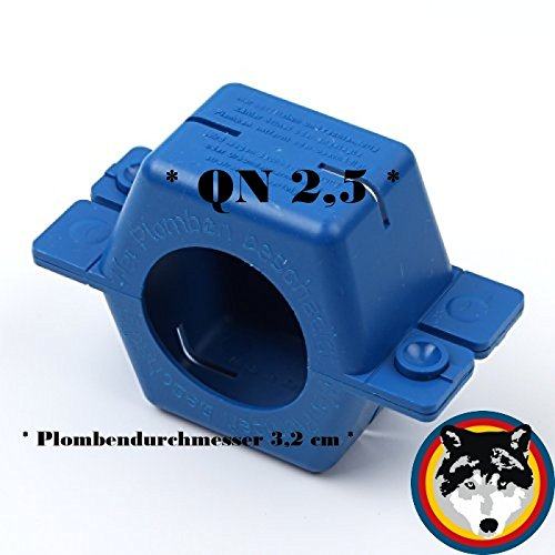 Plombierschelle QN 2,5 zweiteilig Blau für Wasserzähler , Wasseruhr