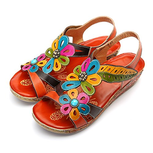 Gracosy Sandalias Mujer cuña Diapositivas Zapatos