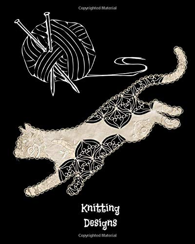 Knitting Designs: Graph Paper Notebook Blank Knitter's Journal 2:3 Ratio Lace Mandala Animal Cat Cover 8