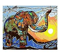 象シリーズdiyオイルデジタル絵画番号キット抽象アクリル絵の具大人のための番号ホームデコレーション40 * 50(フレームなし)