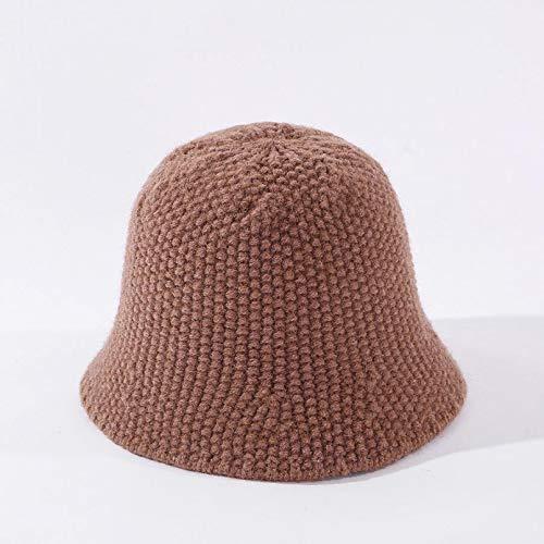 DAIDAIWLH Hut Frauen Solid Knitted Bucket Hat Angelkappe Outdoor Casual Sports Reisen...