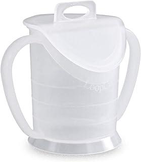 LoopCup - Trinken erlernen, erhalten, wiedererlernen - Der Becher für jedes Alter - Original Dr. Berndsen Produkt (Weiß)