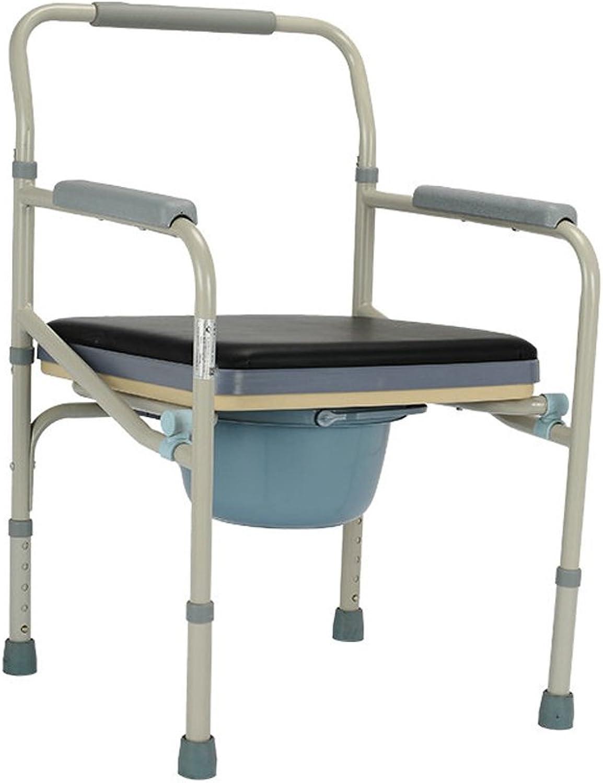 Badestuhl Ali WC-Sitz Stahlrohr mit einem weichen Sitz für ltere Menschen Schwangere Frauen Behinderte Toiletten faltende Toilette 52  48  80cm