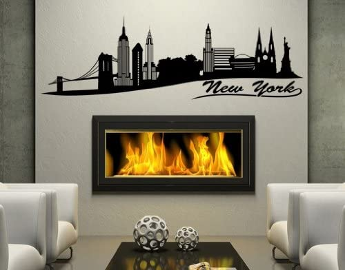 New York II City Skyline Wall 25% Large special price !! OFF Stic by Style - Apply Decal