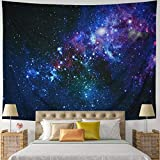 Leofanger Galaxy Tapestry Universe Starry Sky Tapestry Wall Hanging Milky Way Space Tapestry Psychedelic Tapestry Nebula Headboard Bedspread Tapestry for Bedroom Living Room(W78.7 × H59.1)