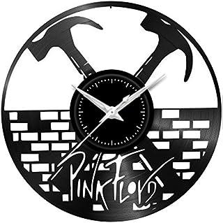 Fusorario Orologio in Vinile da Parete LP 33 Giri Silenzioso Idea Regalo A Tema Pink Floyd the wall