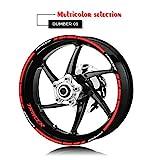 Moto Rim kit adesivi pneumatici anteriori e posteriori impermeabile Logo adesivo riflettente banda for YAMAHA TRACER Tracer Mei Racing (Color : 4)