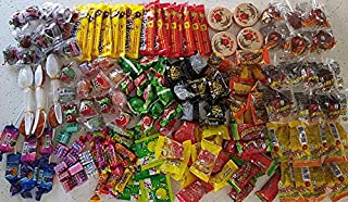 Glam Lux Mexican Candy Assortment Dulces Mexicanos for Posadas & parties, An assortment of 18 types, 175 count delicious spicy & sweet Vero pica fresa, limon 7 canels & more. Gift Included