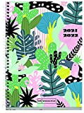 MIQUELRIUS - Agenda Escolar 2021-2022 - Tamaño ACTIVA 11,7 x 17,4 cm, Semana Vista, Forest Verde Rosa, Idioma Italiano