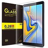 IVSO Samsung Galaxy Tab A 10.5 SM-T590 (Wi-Fi); SM-T595 (LTE) ガラスフィルム 新型 Samsung Galaxy Tab A 10.5 SM-T590 タブレット 強化ガラスフィルム NEWモデル 耐指紋 撥油性 表面硬度9H ラウンド加工処理 飛散防止処理 高透過率 光沢表面仕様 画面保護 保護シート - サムスン Galaxy Tab A 10.5 SM-T595 専用 液晶保護フィルム