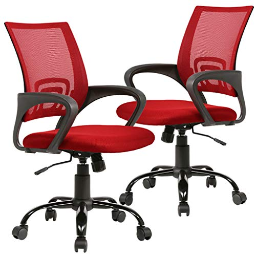 Office Chair Ergonomic Desk Chair Mesh Executive Computer Chair with Arms for Back Pain, Set of 2