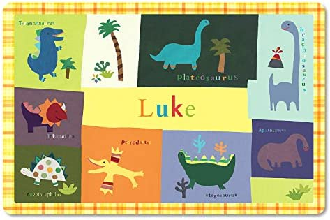 Kids Placemat Personalized with Child s Name Custom Dining Table Mat Unique Gift for Boys and product image