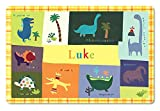 I See Me! Kids Placemat Personalized with Child's Name, Custom Dining Table Mat, Unique Gift for Boys and Girls, Dinosaur, Trex, Tyrannosaurus, Triceratops