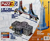 Puzz3D 3 in 1 USA Landmarks- The White House, The Empire State Building, and The Golden Gate Bridge by puzz 3d