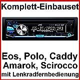 Komplett-Set EOS Polo Caddy Amarok Scirocco JVC KD-DB97BT Autoradio Bluetooth CD