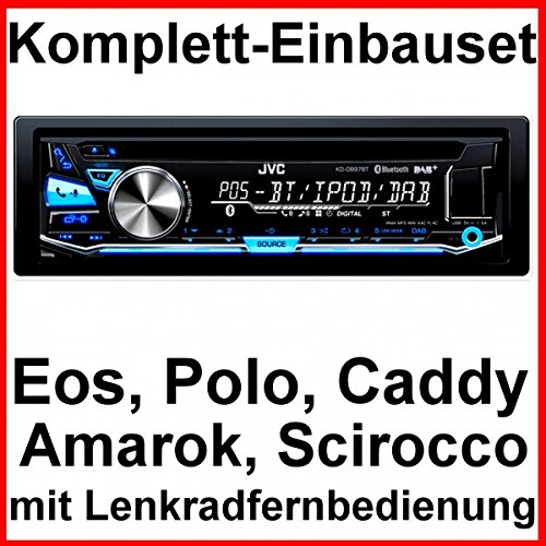 Komplett-Set EOS Polo Caddy Amarok Scirocco JVC KD-DB97BT Autoradio Bluetooth CD