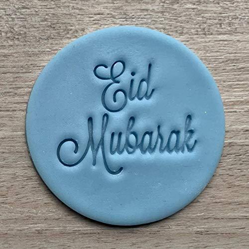 Eid Mubarak Fondant Embosser or عيد مبارك Cookie Stamp Icing Frosting Biscuit Stamp