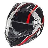 Motocicleta Held 7281travel-champ–Casco, color negro y rojo UK vendedor
