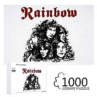 Rainbow レインボー Long Live Rock'n'Roll 1000ピース ジグソーパズル 木製 アート コレクション ミニパズル 減圧玩具 ギフト 景品 インドア 750*500 mm