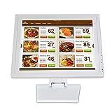 Monitor táctil de 15 pulgadas, pantalla LED, HDMI, sistema de caja registradora, 1024 x 768, para sistema de caja registradora POS VOD