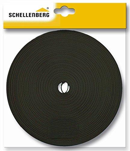 Schellenberg - Correa de persiana (18 mm, 12 m), color marrón