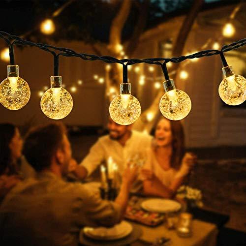 Lámpara Solar al Aire Libre 120 LED 22M Solar Power Earth String Light 8 Modo IP64 Impermeable Fairy Lámpara Al Aire Libre Jardín Terraza Patio Decoración de árbol de Navidad-30LED