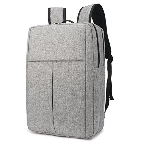 Slim Travel Backpack, Laptop Backpack for Women Men, School College Backpack Fashion Backpack Fits 15.6 inch Notebook (Grey)