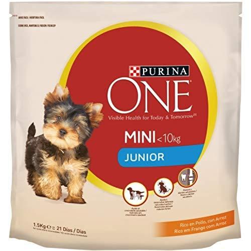 Nestlé Purina One Comida para Perro Junior pienso para Perro con Pollo y Arroz 1.5 g - Pack de 6 ⭐
