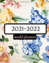 weekly planner 2021-2022: Floral Watercolor yearly Planner Monthly Logbook and Journal great gag gifts ideas for father's day