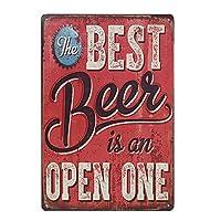 最高のビールはオープンなものです 金属板ブリキ看板警告サイン注意サイン表示パネル情報サイン金属安全サイン