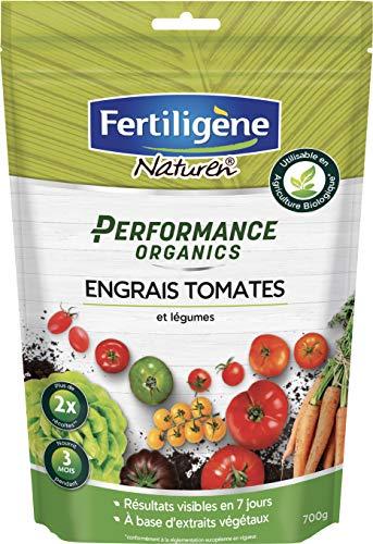 FERTILIGENE Engrais Tomates et Légumes Performance Organics, 700gr