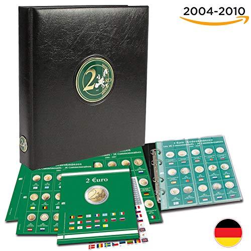 SAFE 7341 B1 das 2 Euro Münzen Sammelalbum - Premium Münzsammelalbum - 2 Euro Sammelalbum - für Ihre Coin Collection von 2004-2010