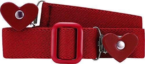 Playshoes Elastik-Gürtel Herz-Clip Uni Cinturón, Rojo (Rot), Talla única (Talla del fabricante: 116-140) para Niñas