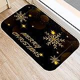 YUHG Negro Dorado Navidad Decoración de la Nieve Entrada de la...