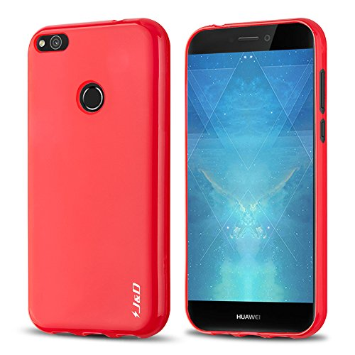 J&D Case Compatible for P8 Lite 2017 Case, Drop Protection Slim Cushion Shock Resistant Protective TPU Slim Case for Huawei P8 Lite (Release in 2017) Bumper Case, Not for Huawei P8 Lite 2016