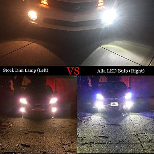 Alla Lighting 9145 H10 LED Fog Light Bulbs 2800 Lumens Xtremely Super Bright 9140 9045 9155 9040 5730 33-SMD 12V PY20D Fog Lights Replacement for C   ars, Trucks, 6000K Xenon White