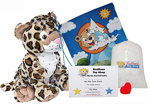 Make Your Own Stuffed Animal Charlie The Cheetah 16'- No Sew - Kit with Cute Backpack!