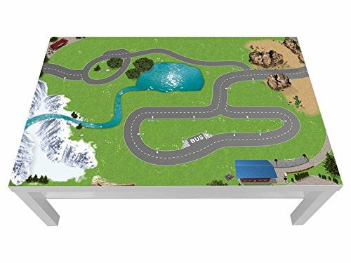 Stikkipix Eisenbahn Möbelfolie | LCG13 | passgenau für den Lack Spieltisch von IKEA (Möbel Nicht inklusive)