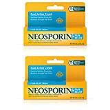 Neosporin + Maximum-Strength Pain Relief Dual Action Cream, First Aid Topical Antibiotic & Analgesic Cream for Wound Care of Minor Cuts, Scrapes & Burns, Polymyxin B & Pramoxine HCl,.5 oz (Pack of 2)