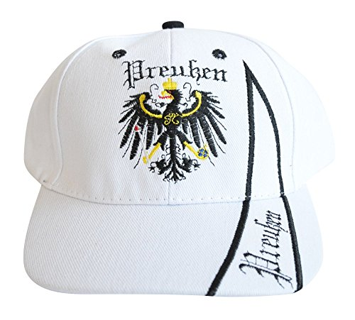 Flaggenfritze Kappe Motiv Preußen Fahne, Fan - Cap mit preußischer Fahne