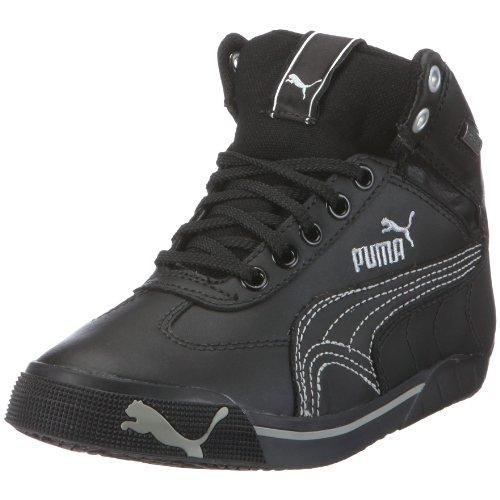 PUMA 303535 01 Speed Cat 2.9 Mid GTX Jr, Unisex - Kinder Sneaker, Schwarz (black 01), EU 36, (US 4.5), (UK 3.5)