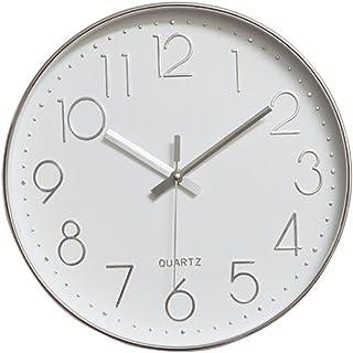 comprar comparacion Reloj de Pared Moderno,Grandes Decorativos Silencioso Interior Reloj de Cuarzo de Cuarzo Redondo No-Ticking para Sala de E...