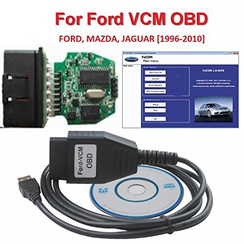 Ford-VCM OBD, FoCOM Ford-Diagnoseprogramm, OBD-Kabel für Ford, Mazda, Jaguar, Mini-Version von VCM IDS OBD2 Scanner-Werkzeug, für PKWs Baujahr 1996-2010 ULTRAOBD2