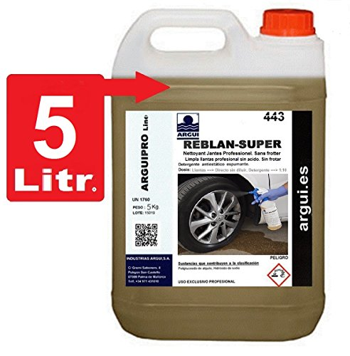 ARGUIPRO Line REBLAN SUPER 5 liters. Professional Ultra-Concentrated NON-ACID Tire Cleaner. NO Rub