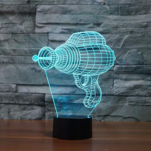 Model van de elektrische boormachine 3D illusie lamp LED nachtlampje met 7 kleuren wijzigen en afstandsbediening verjaardag en kerstcadeau voor kinderen slaapkamer decoratieve tafellamp
